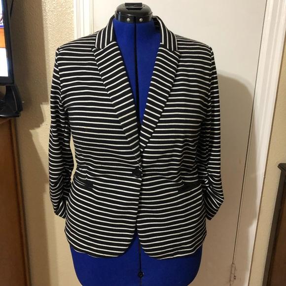 Olivia Moon Jackets & Blazers - Olivia Moon Black and White Striped Blazer